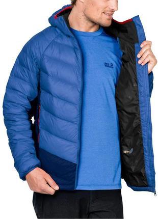 Непродуваемый пуховик jack wolfskin neon down jacket оригинал