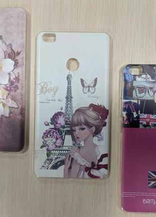 Чехол Xiaomi Mi max Париж, цветочки женский
