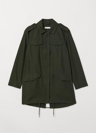 Длинная куртка из хлопковой ткани h&m