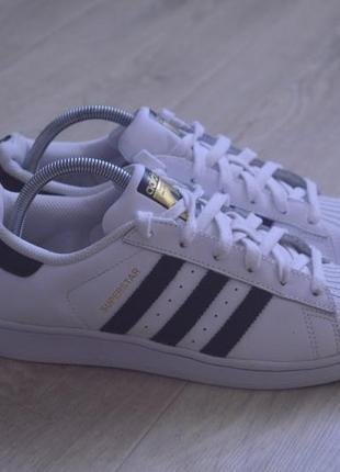 Adidas superstar женские кроссовки кожа оригинал осень