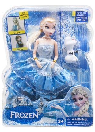 Кукла Фрозен Эльза со снеговиком Олаф, кукла Холодное сердце