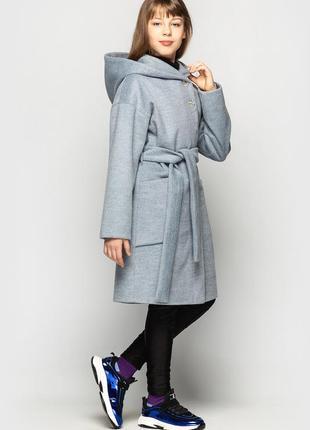 Пальто кашемировое для девочки подростковое, демисезонное