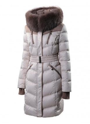Пуховик натуральный + мех лиса snowimage