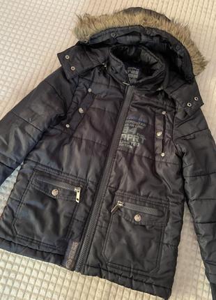 Куртка- пальто на мальчика reporter р.140