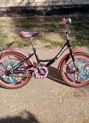Велосипед детский Monster High