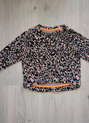 Стильная кофта, свитшот на девочку леопард