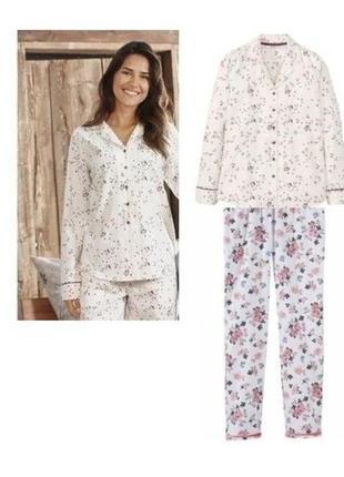 Пижама домашний комплект esmara германия р. 44-46, фланель