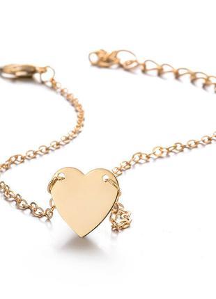 Цепочка Браслет На Ногу В Форме Сердца на День Влюбленных 8 марта