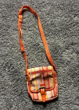 Оранжевая сумочка через плечо барсетка