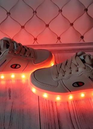 Led кроссовки, светящиеся кроссовки с usb зарядкой