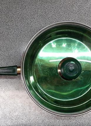 Сковородка сотейник сковорода нержавейка стеклянная крышка