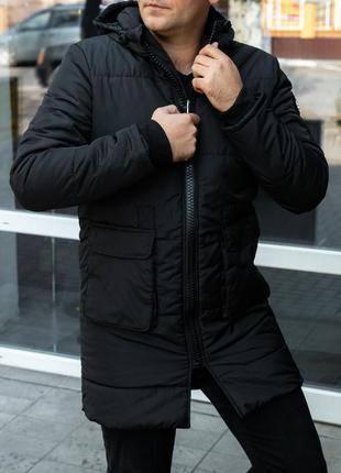 Мужская куртка-пальто на синтепоне