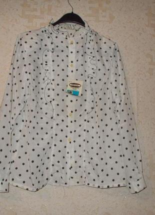Новая винтажная ретро блуза в горох/горошек р. 48-50/xl