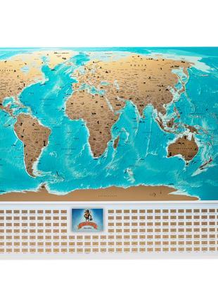 Скретч-карта мира с флагами My Map Flags Edition-украинский язык