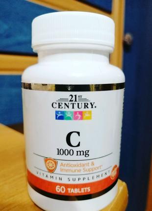 21st Century, витаминC, 1000мг, 60таблеток