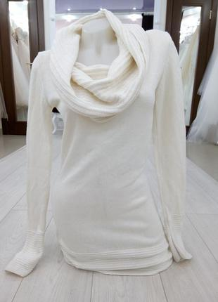 """🔥 обвал цен🔥интересное теплое белое миди платье туника """" h&m"""""""