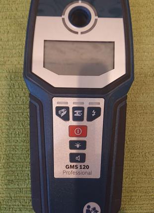 Bosch GMS 120, детектор скрытой проводки.