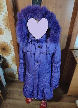 Роскошная теплая курточка-пальто на подстежка будет и зима и д...