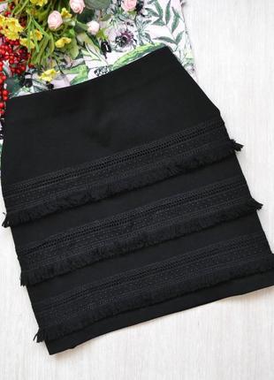 Короткая юбка h&m  с бахромой