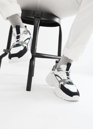 Белые кроссовки asos на высокой подошве !