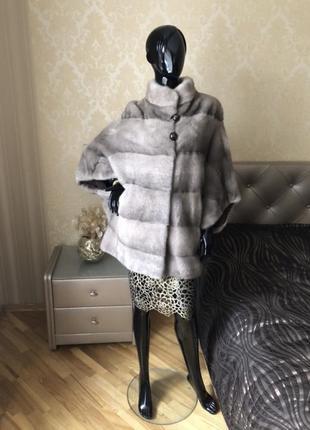 Норковая шуба obsession furs, греция, кимоно, оверсайз 44-52,