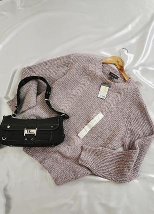 Лиловый оверсайз свитер