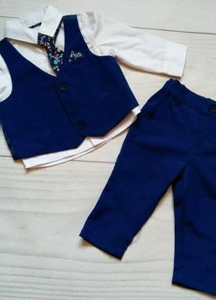 Набор для мальчика рубашка брюки жилет галстук