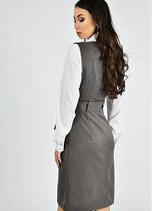Стильное офисное платье для деловых женщин 36