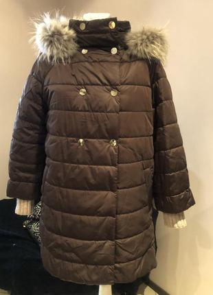 Пуховик  пальто кокон парка raslov