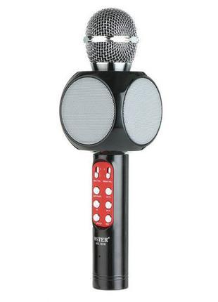 Беспроводной микрофон караоке bluetooth WSTER WS-1816. Цвет: ч...