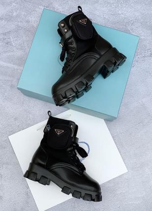 Зимове взуття Prada Ankle Pouch CombatBoots