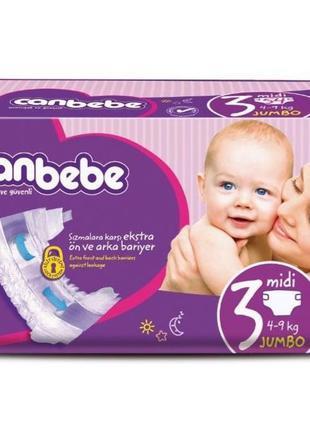 Детские подгузники CANBEBE Midi 36 шт
