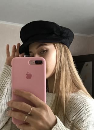 H&m кепи кепка картуз стильный на размер s / m чёрный