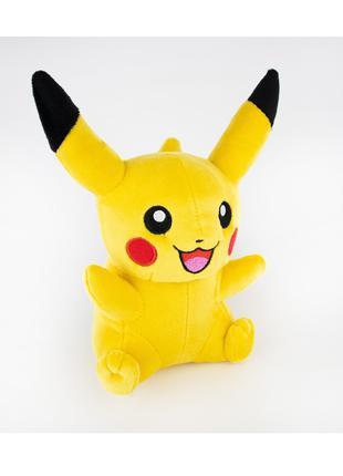 Яркая солнечно-желтая мягкая игрушка Пикачу . Подарок от сердца!