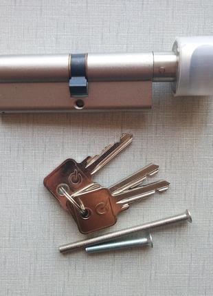 Цилиндр замка с воротком GreenteQ SX 90 (50хВ40), новый