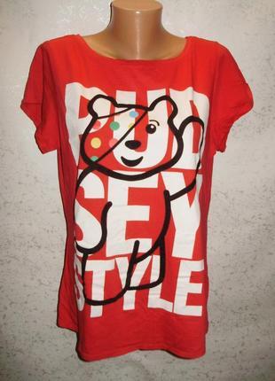 Красная футболка с рисунком 20/54-56 размера