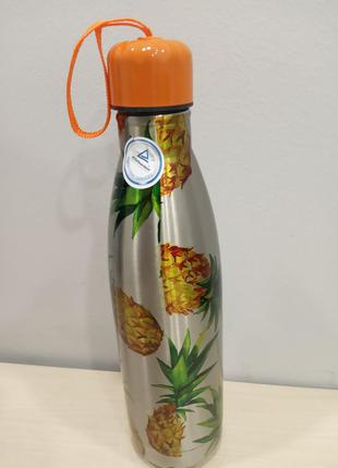 Стильный термос-бутылка 500 мл ernesto ананас