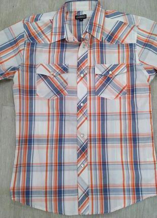 Рубашка с короткими рукавами gioberti italy на 11-13 лет.
