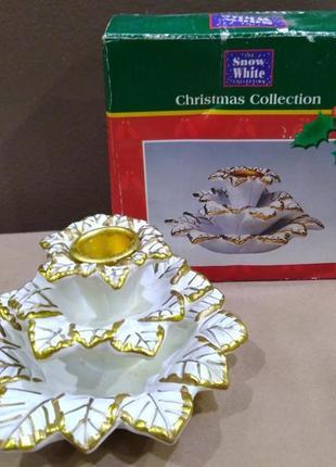 Трехярусный подсвечник christmas collection snow white.