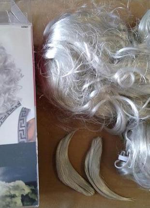 Комплект аксессуаров дед мороз, зевс. парик, борода, брови.