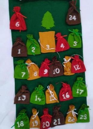 Адвент календарь петрушка christmas home collection из фетра. ...