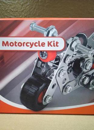 Металлический конструктор с болтами и гайками мотоцикл  playti...