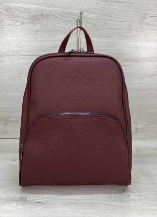 Женский повседневный городской рюкзак бордовый рюкзак базовый ...