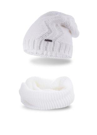 Комплект: шапка и шарф-снуд pamami