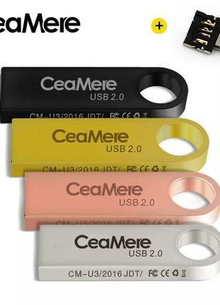 USB Флешка 32 ГБ + адаптер micro USB (Android)