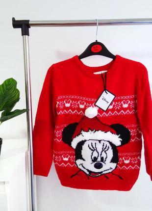 Праздничный новый свитер для девочки.
