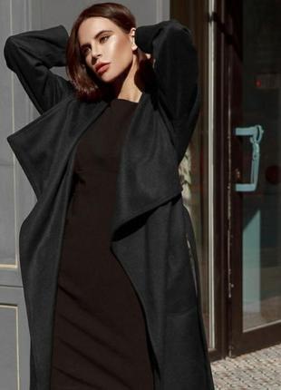 Женский черный кардиган плащ f&f  демисезон весна осень большо...