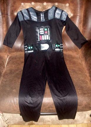 Звездные войны. костюм дарт вейдер на 4-6 лет цена снижена