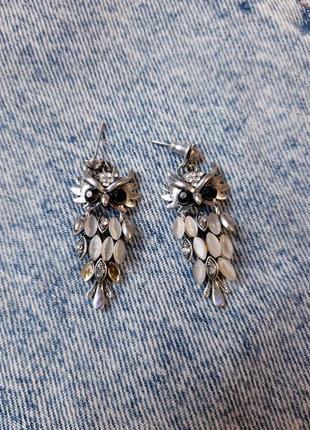 Серьги совы сова