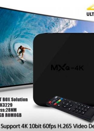 Смарт ТВ приставка TV-BOX MXQ-4K (MAQ-4k) 1G + 8G + Android 5.1